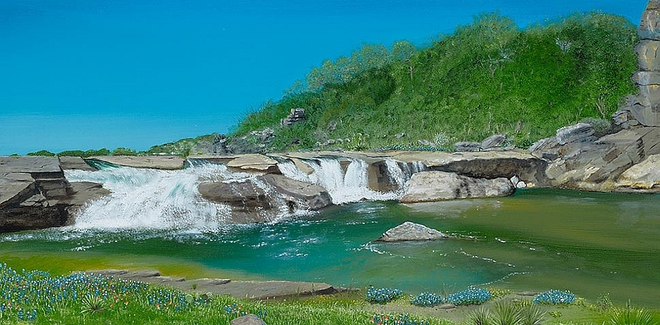 Falls on the Pedernales